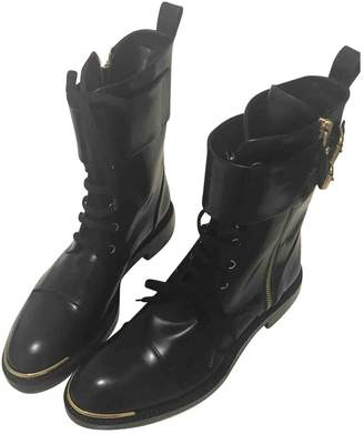 Louis Vuitton Leather biker boots