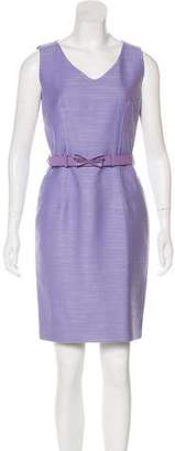 Christian Dior Wool Belted Dress