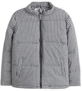 Violeta BY MANGO Gingham check quilted jacket