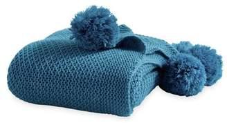 Better Homes & Gardens Better Homes and Gardens Knit Pom-Pom Throw Blanket