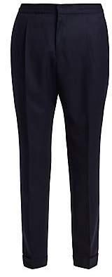 Officine Generale Men's Drew Flannel Wool Dress Pants