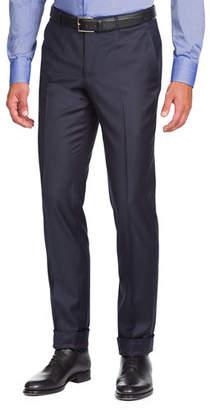 Isaia Aquaspider Wool Dress Pants