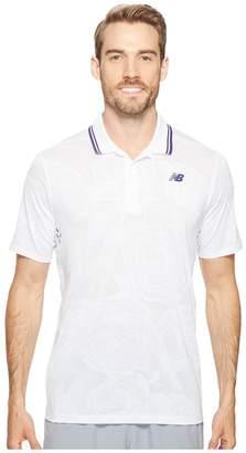 New Balance English Rose Polo Men's Short Sleeve Button Up