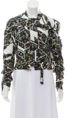 Preen by Thornton Bregazzi Silk Bomber Jacket