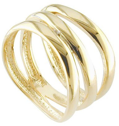 14k Gold Plated Wave Band Ring Gold