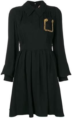 No.21 crystal embellished short dress