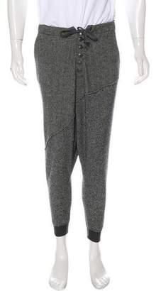 Greg Lauren 2016 Wool Drop Crotch Cropped Joggers w/ Tags