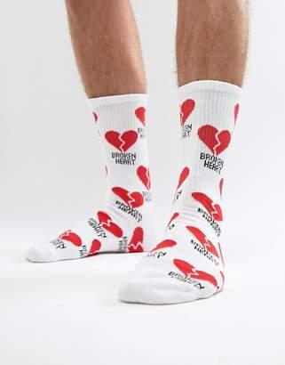 Pull&Bear Broken Heart Sock