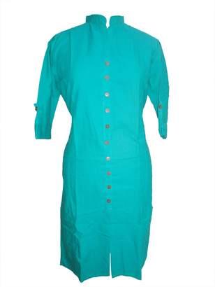 Bamboo Indian Ethnic Kurti Cotton Fabric Thread Embroidered Bollywood Women Kurta