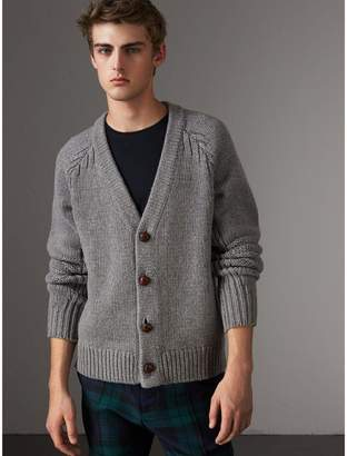 Burberry Chunky Knit Wool Cashmere Cardigan