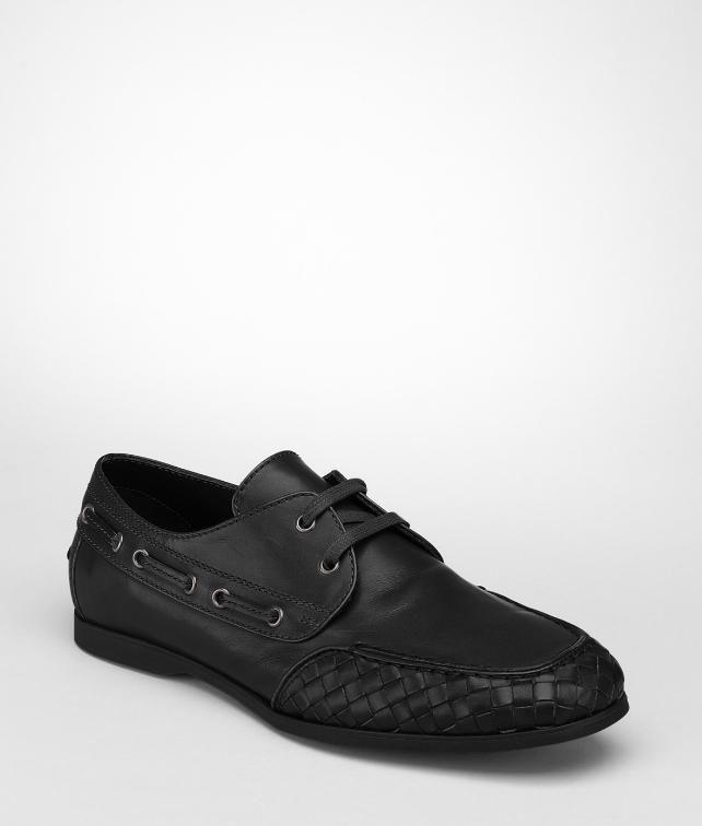 Bottega Veneta Nero calf boat shoe