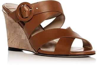 Jimmy Choo Women's Delila 85 Crisscross Wedge Slide Sandals