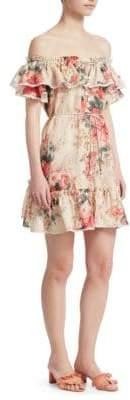 Zimmermann Laelia Frill Tier Mini Dress