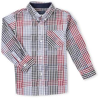Andy & Evan Boys 4-7) Gingham Button-Down Shirt