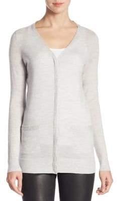 Saks Fifth Avenue Women's COLLECTION Cashmere Cardigan - Ebony - Size Medium