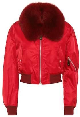 Yves Salomon Army Fur-trimmed bomber jacket