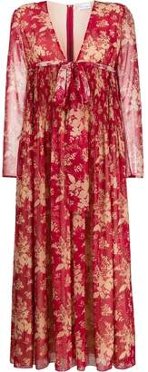 RED Valentino floral V-neck maxi dress