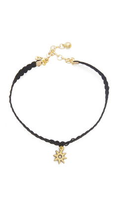 Vanessa Mooney Black Lace Choker with Star Charm $40 thestylecure.com