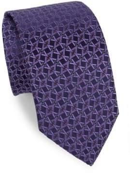 Eton Purple Geometric Print Tie