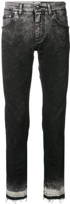 Dolce & Gabbana gradient frayed hem jeans