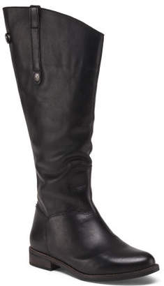 Made In Brazil Wide Calf Wide Width Leather Knee High Boots