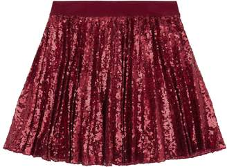 MonnaLisa Sequin Pleated Skirt