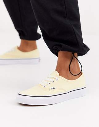 Vans Authentic recycled polyester cream sneakers