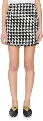 Off-White Off White Houndstooth Mini Skirt
