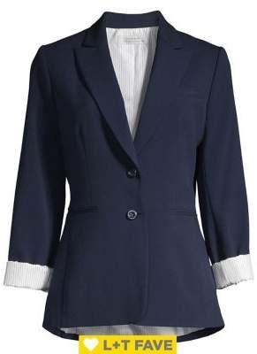 Tahari Arthur S. Levine Peak Lapel 2-Button Jacket