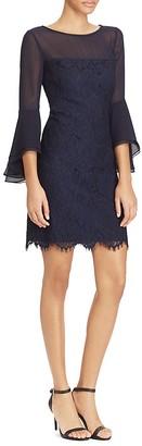 Lauren Ralph Lauren Petites Illusion Bell-Sleeve Lace Dress $185 thestylecure.com
