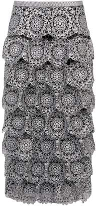 Burberry Silicone Lace Pencil Skirt