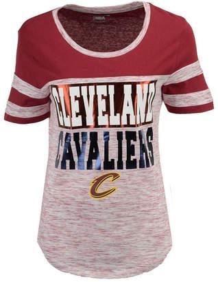 5th & Ocean Women Cleveland Cavaliers Space Dye Foil T-Shirt