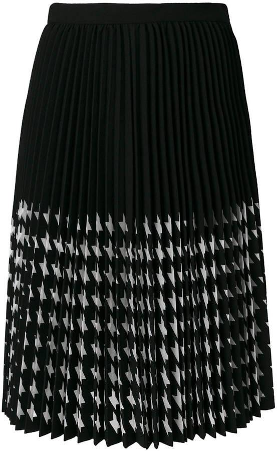 MSGM houndstooth pleated skirt