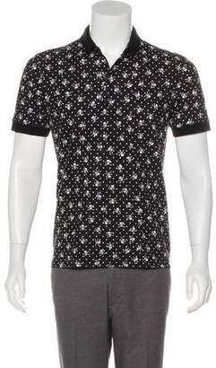Dolce & Gabbana Skull & Crossbone Print Polo Shirt