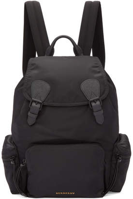 Burberry Black Large Nylon Rucksack