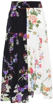 Isabel Marant Inaya floral-printed silk skirt