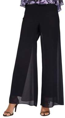 Alex Evenings Mesh Wide-Leg Pants