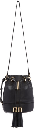 See by Chloé Black Vicki Bucket Bag $395 thestylecure.com
