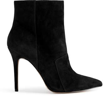 Reiss MIRNA POINTED ANKLE BOOTS Black