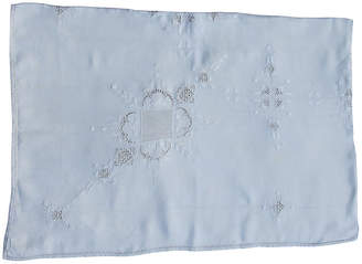 One Kings Lane Vintage Embroidered Irish Linen Tablecloth