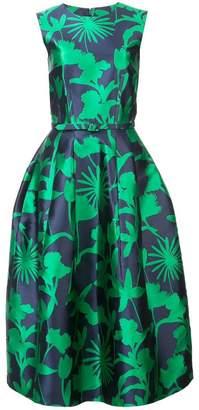 Oscar de la Renta floral print flared dress