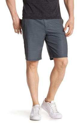 Hurley Stripe Zip Up Swim Trunks