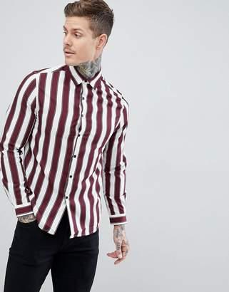 Asos Regular Fit Stripe Shirt
