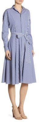 Polo Ralph Lauren Striped Cotton Poplin Shirtdress $245 thestylecure.com