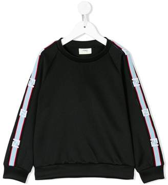Fendi logo stripe sweatshirt