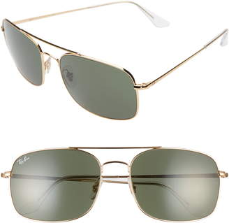 Ray-Ban 60mm Aviator Sunglasses