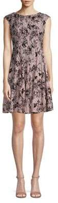 Gabby Skye Floral Lace Fit Flare Dress