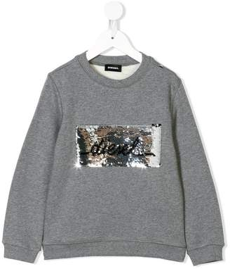 Diesel sequinned logo sweatshirt