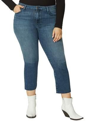 Sanctuary Curve Modern High-Rise Crop Jeans in District Blue