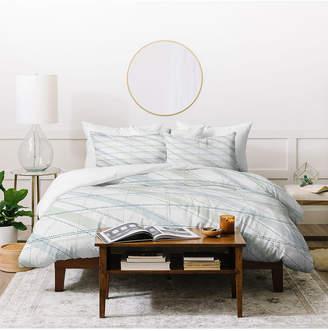 Deny Designs Iveta Abolina Aida Seaside King Duvet Set Bedding